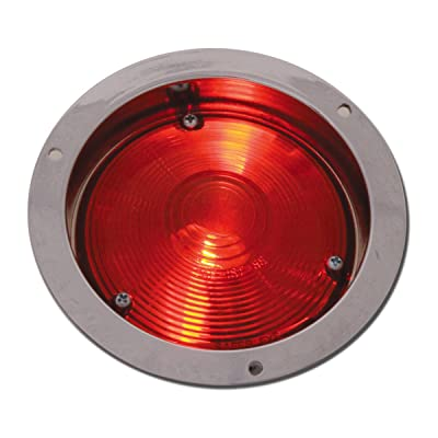 Grand General 80370 Clear Die Cast Flange Mount Red Light: Automotive