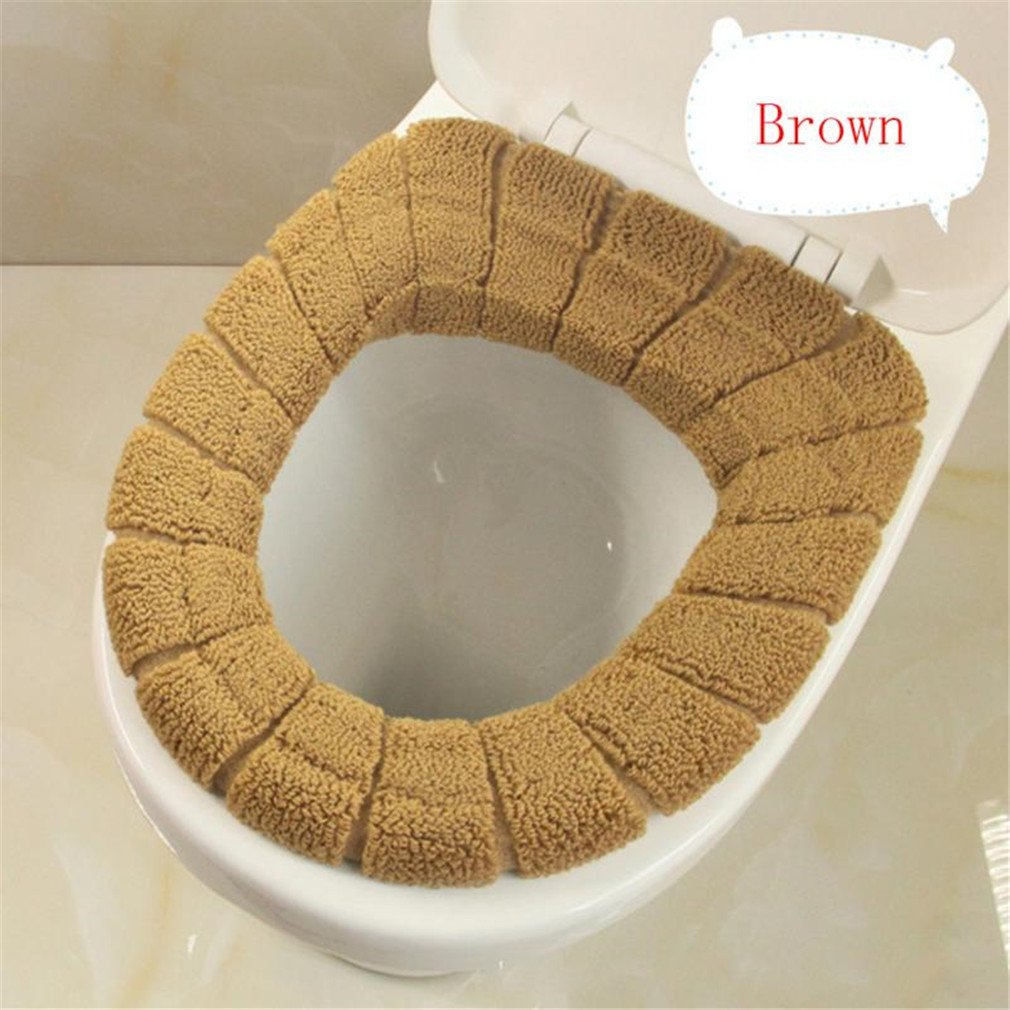 FEWER Toilet Seat Cover Cute Lid Top Warmer Washable Bathroom Restroom Product Cotton Pedestal Pan Cushion 3