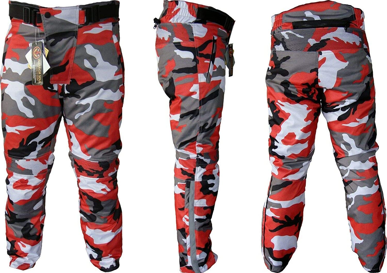 Army Blue Camo 40 /× 31 Color NEW Motorcycle Camouflage Waterproof Motorbike Motocross Textile Armour Trouser Size