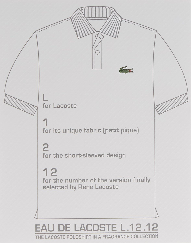 Amazon.com  LACOSTE L.12.12 Blanc Pour Lui Eau de Toilette  Lacoste Eau De  Lacoste L.12.12 Blanc  Luxury Beauty 437b8d59a26f