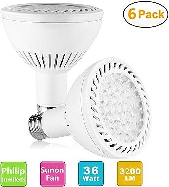 Pack of 6 Super Bright Tracking Light Bulbs 350w Equivalent Replacement Spotlight Floodlight 6000K CRI80 Bulb E26//27 Base for Warehouse Supermarket Museum Garage PAR30 36W 3500lm LED Light Bulb