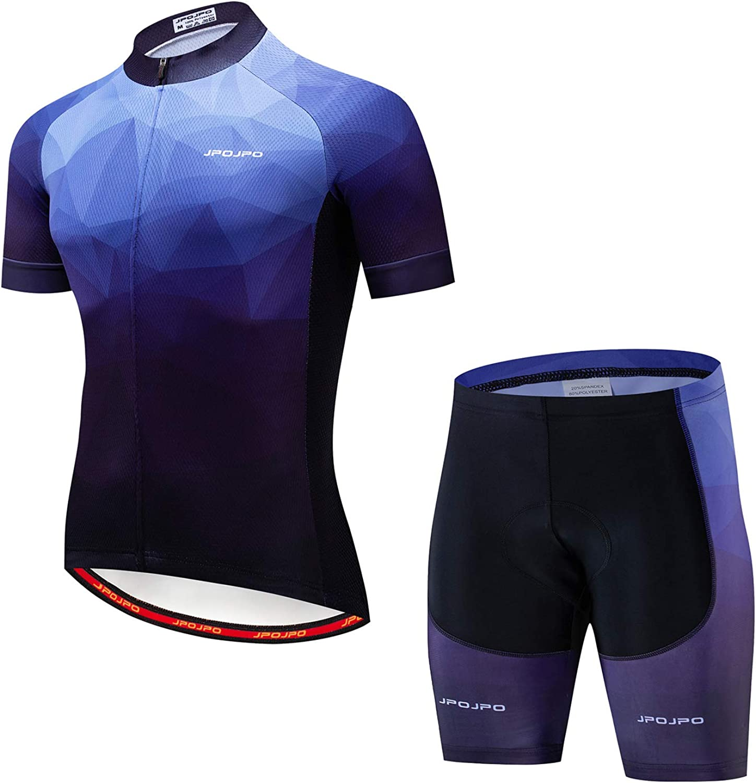 Weimostar Mens Cycling Jersey Set Road Biking Short Sleeve Kit Gel Padded Shorts Bike Clothing