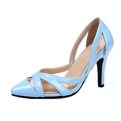 YE Damen Hollow Out Spitze High Heels Pumps mit Absatz 9cm Elegant Schuhe