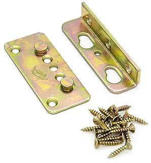 Bed Frame Rail Fitting Brackets DIY Woodworking Hardware