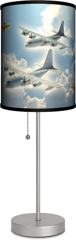 Lamp-In-A-Box SPS-TTN-C130H Transportation – C-130 Hercules Sport Silver Lamp, 20 x 7 x 7
