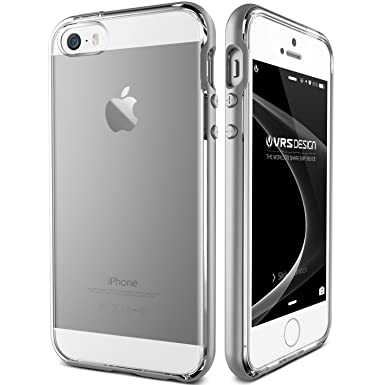 cheap for discount f105c 5ee32 iPhone SE Case / iPhone 5S Case / iPhone 5 Case VRS Design® [Satin Silver]  Dual Layer Clear Back Slim Fit Shockproof Protective Cover [Crystal ...