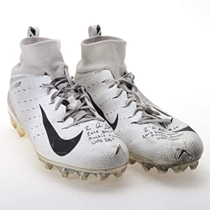 Tre Quan Smith New Orleans Saints Autographed Game-Used White Nike Cleats  from the f64d718d9