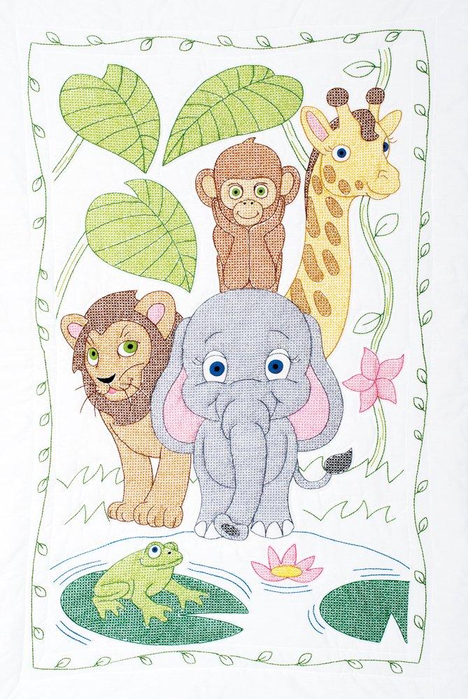 Jungle Crib Quilt Top Jack Dempsey 4060 548