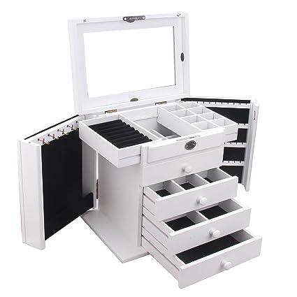 Amazoncom Extra Large Wooden Jewelry Box Jewel Case Cabinet