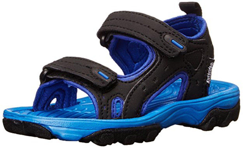 Northside Kid's Riverside II Summer Sandal, Black/Blue, 5 M US Big Kid; with a Waterproof Wet Dry Bag
