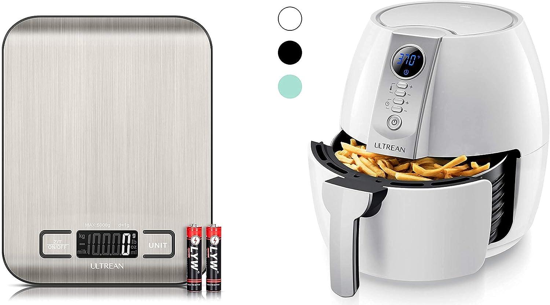 Ultrean Digital Food Scale and Ultrean 4.2 Quart (4 Liter) Air Fryer