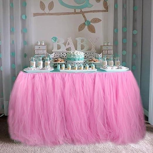 OurWarm tul Tutu Falda Fiesta vajilla de mesa para boda decoración ...
