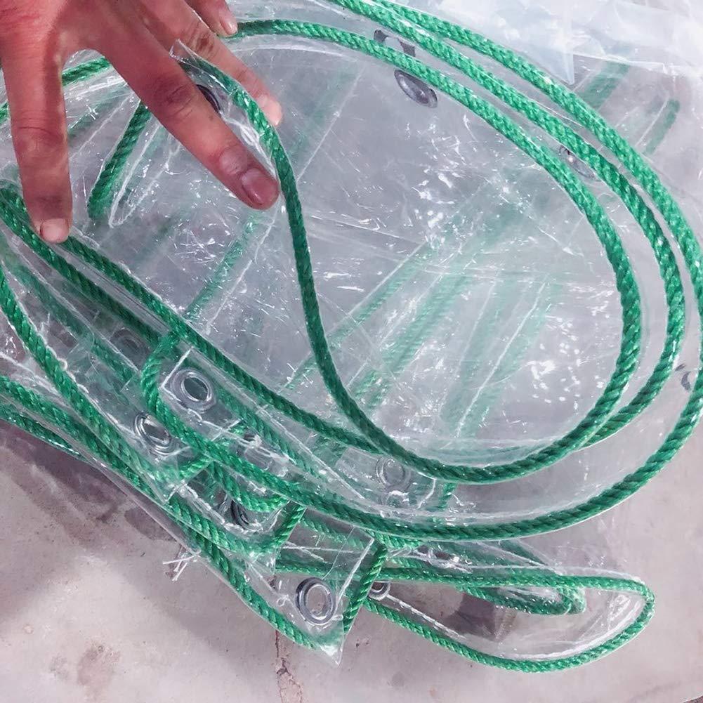 LSXIAO Vetro Trasparente Telo Impermeabile E Resistente alla Polvere di PVC Occhiello Metallico con La Corda Esterna Libera Allaperto Mobili di Copertura Color : Clear, Size : 1X1M 41 Formati