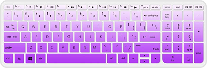 Keyboard Cover Skin for HP Notebook 15.6 Premium Laptop,HP 15-BA009DX Notebook,HP 15-BS015DX 15-BS158CL 15-BS115DX,HP 15-BA009DX 15-BA010nr 15-BA015WM 15-BA079DX 15-BK163DX 15-AY103DX(gradualpurple)