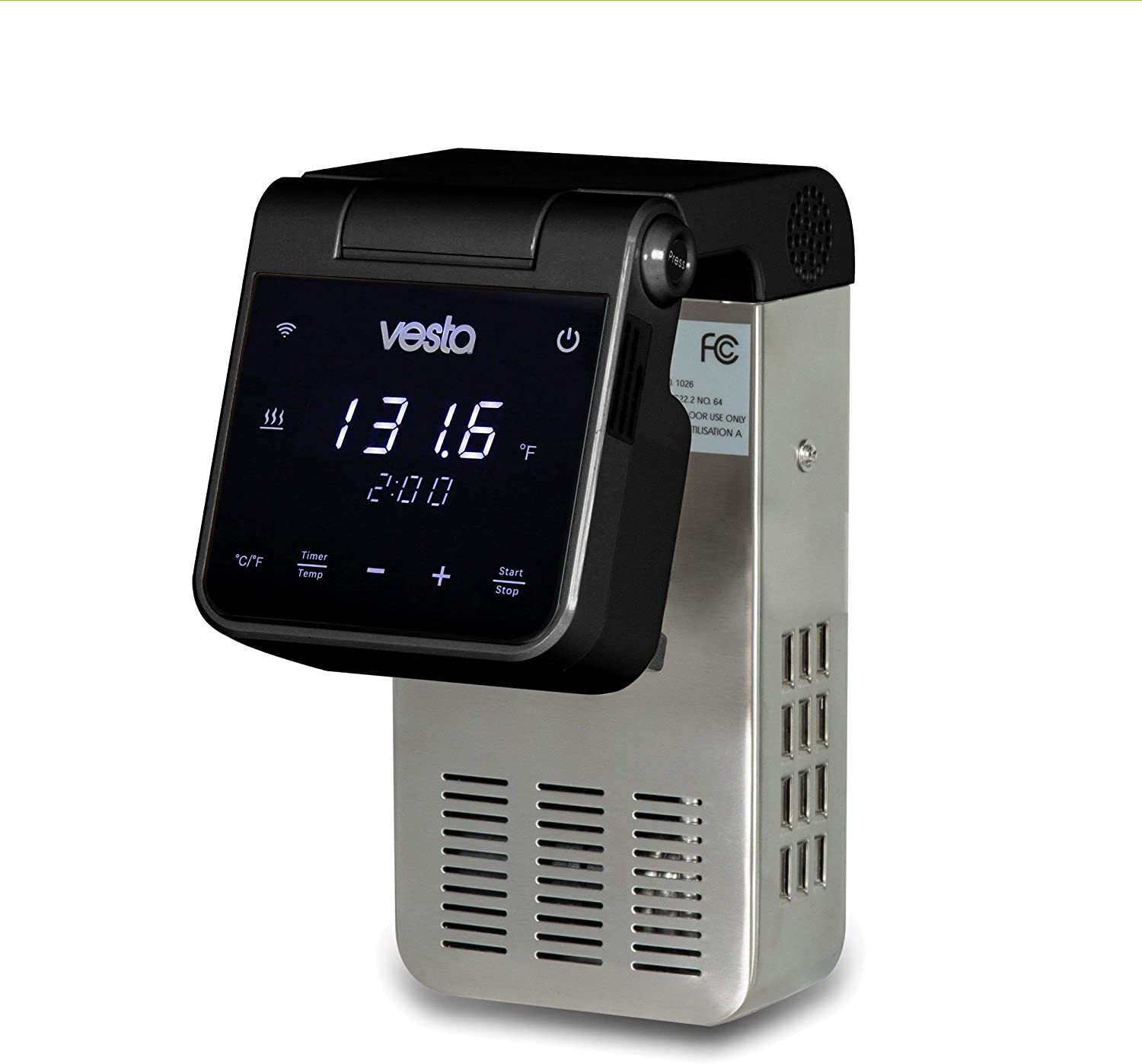 Imersa Elite Sous Vide Cooker with Unique Folding Design   Powerful Pump Immersion Circulator   App Enabled with Big Display   by Vesta Precision