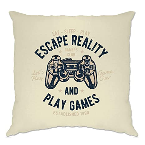Amazon.com: Gamer Funda de cojín Escape Reality And Play ...