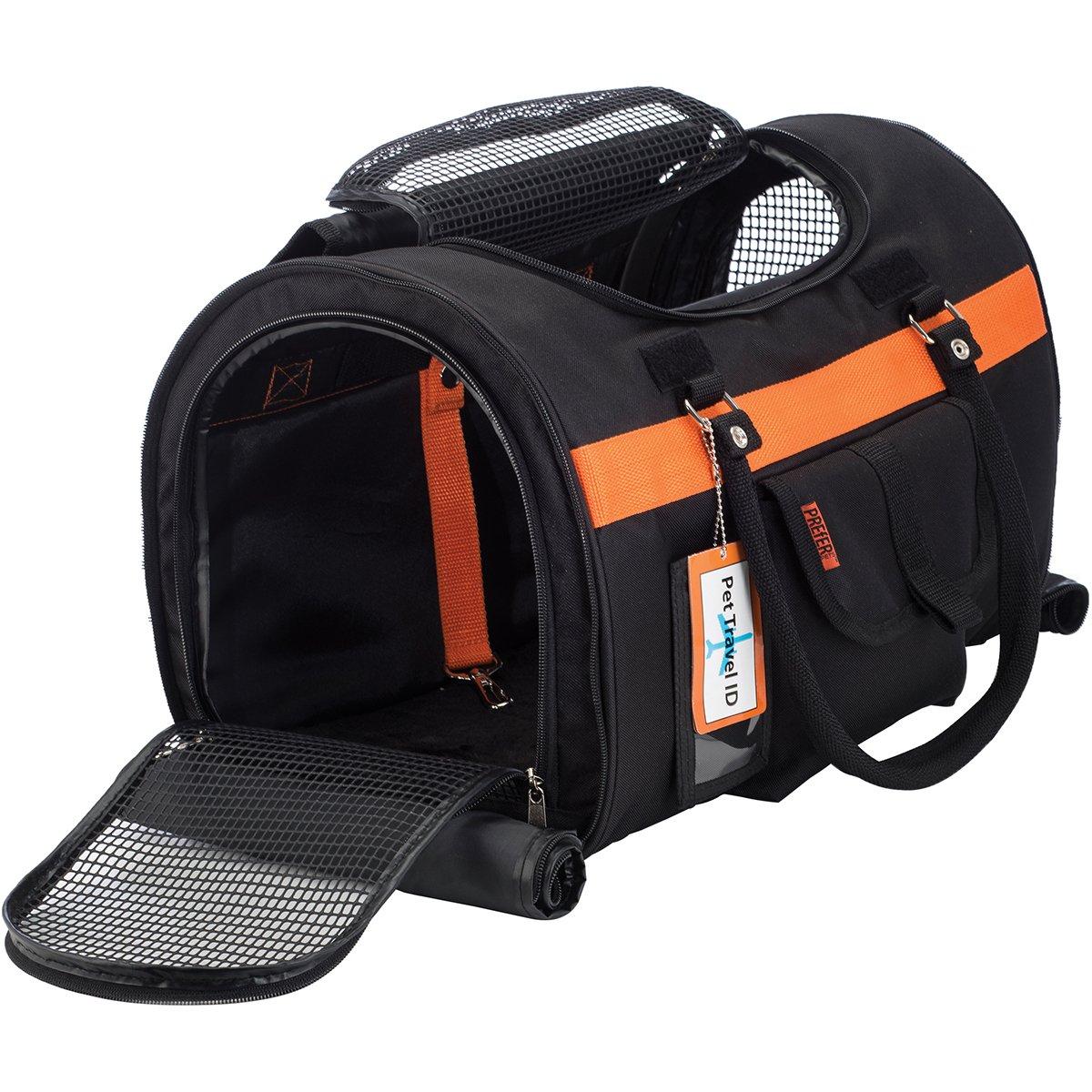 Prefer Pets Travel Gear 312BOR Hideaway Duffle Pet Carrier, Medium