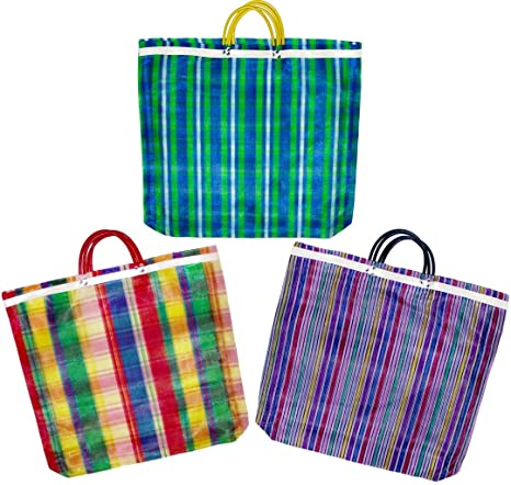 Durable Tote Yellow MEXICAN MARKET BAG Reusable Large-sized Shopping