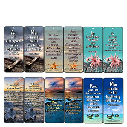 Amazon Com Creanoso Inspirational Bookmarks 60 Pack Life