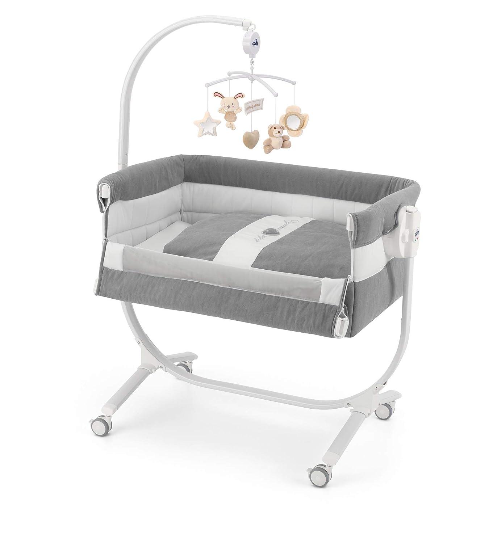 Made in Italy Braun hochwertige Materialien CAM 2 in 1 Beistellbett /& Babywiege CULLAMI ❤ praktisch /& sch/ön h/öhenverstellbares Babybett