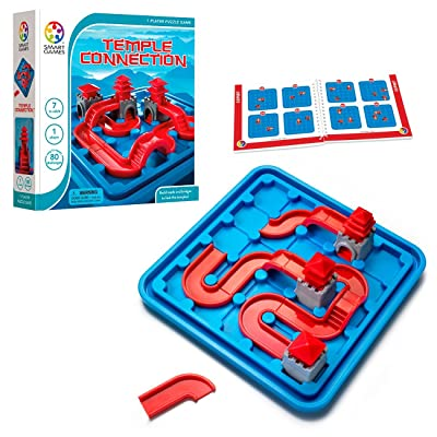 SmartGames Temple Connection Board Game, a Fun, STEM Focused Path-Building Brain Game and Puzzle Game for Ages 7 and Up: Toys & Games