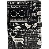 Funny Alohomora Magic Spells Quotes Pattern Leather Flip Stand Case Cover For Apple ipad mini 1, ipad mini 2 Retina ,ipad mini 3