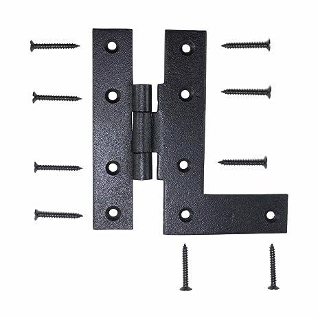 Offset H L Cabinet Hinge Black Iron Left 4.5u0026quot;H | Renovatoru0027s Supply