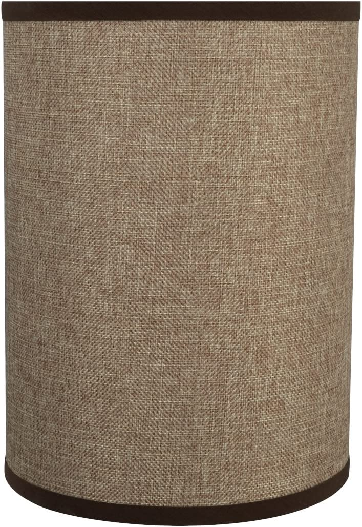 Aspen Creative Straw Yellow, 31268 Transitional Drum Cylinder Shaped Spider Construction Lamp Shade, 8 Wide 8 x 8 x 11