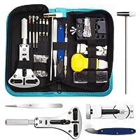 URXTRAL Tool Kit Professionale di Riparazione Orologi, Attrezzi di Apertura Orologi e kit di Riparazione Orologio e portable tool kit orologiaio