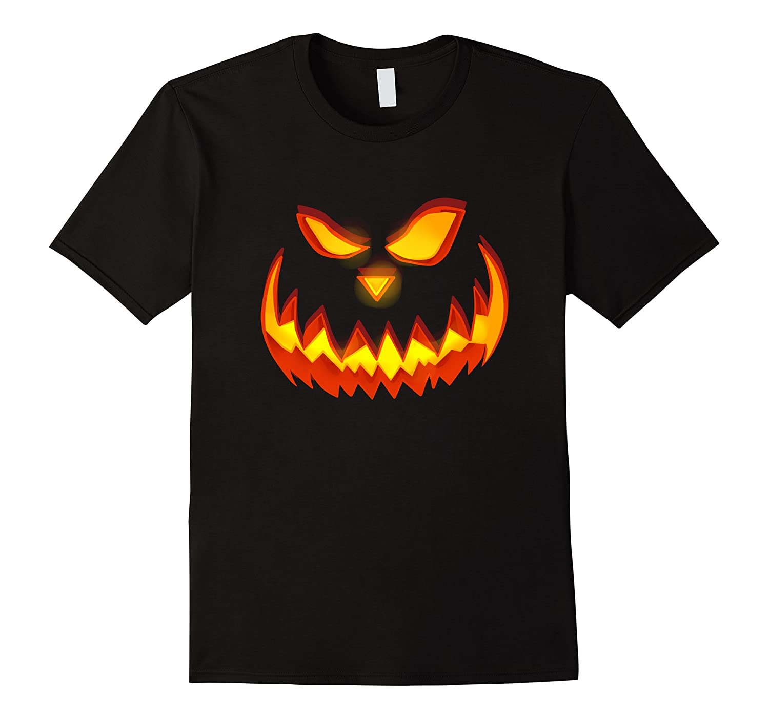 Awesome PUMPKIN FACE black Halloween t-shirt gift for Dad-CL