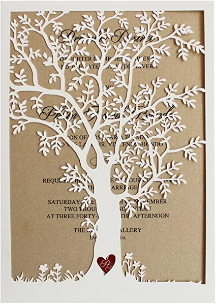 eco wedding invite laser cut wedding invite 10 pack of wooden wedding invite Wedding invite timber wedding invite wedding invitation