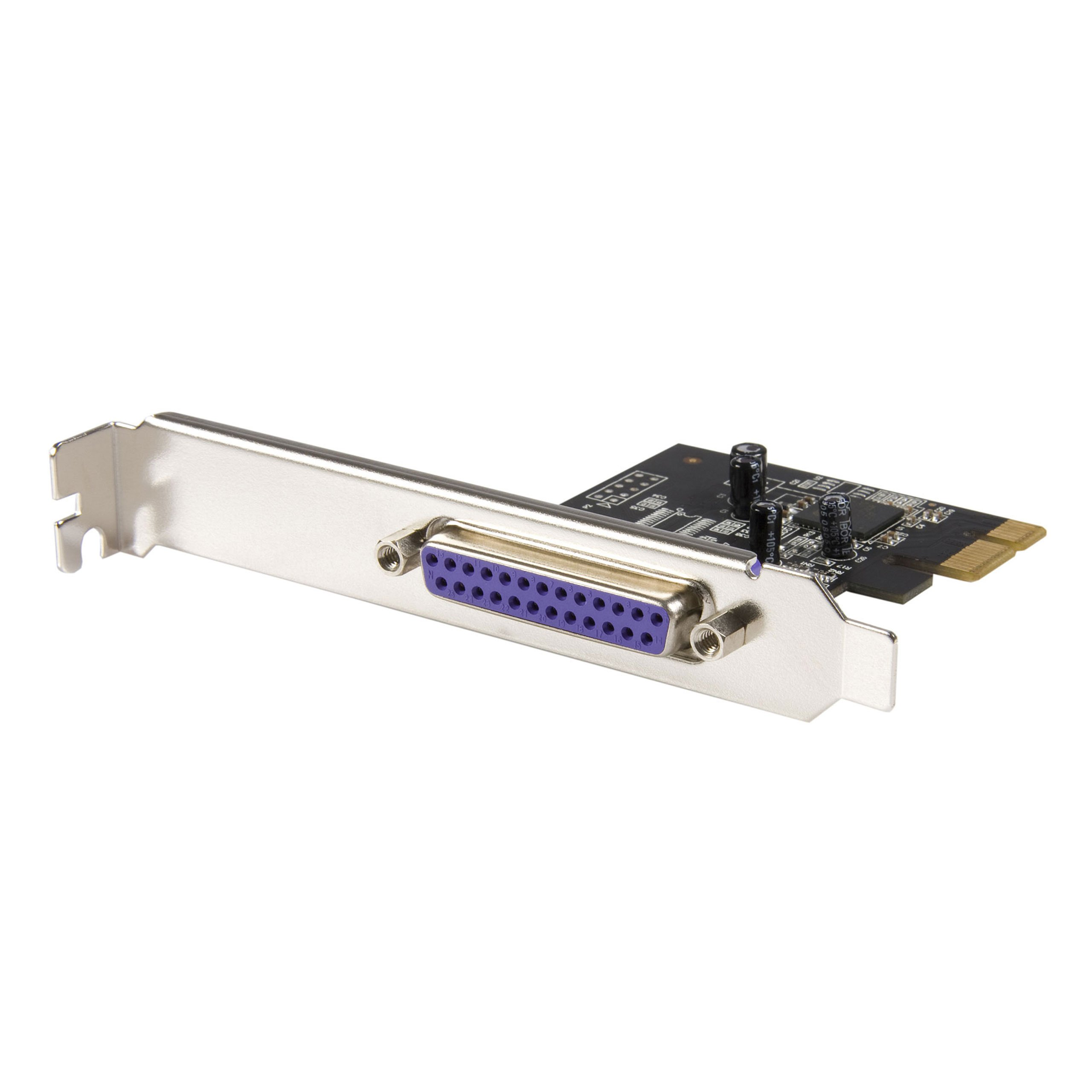 StarTech.com 1 Port PCI Express Dual Profile Parallel Adapter Card - SPP/EPP/ECP - 2x DB25 IEEE 1284 PCIe Parallel Card (PEX1P) by StarTech