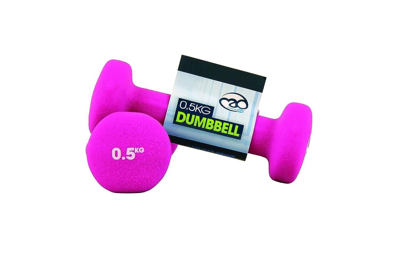 Fitness Mad Neo - Set de 2 Mancuernas / pesas de 0.5kg/u, color rosa FDBELL-05