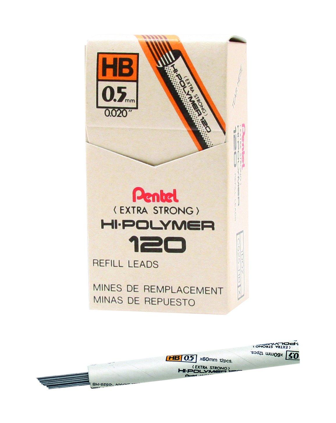 Pentel 120 Minas (12 Tubos) 0.5mm HB