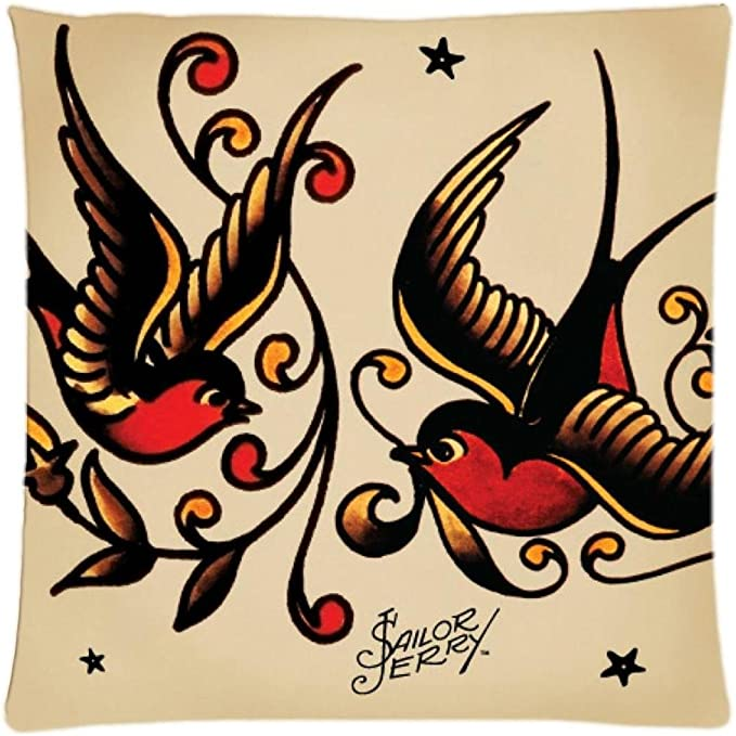 Sailor Jerry tattoo American flag cushion cover home interiors