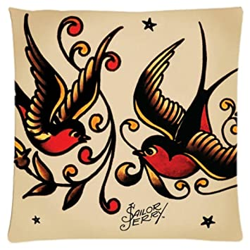 Exceptionnel Astilnet Sailor Jerry Tattoo Print Sofa Home Decor Design Throw Pillow Case  Cushion Covers Square 18