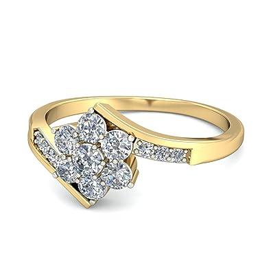 7d59ba79f Buy PC Jeweller The Alyssa 18KT Yellow Gold & Diamond Rings Online ...