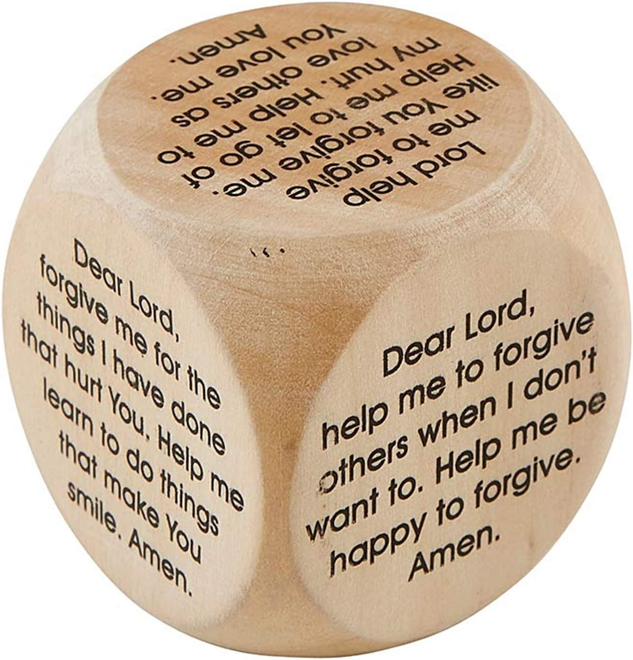 Wooden Forgiveness Prayer Cube Learn How to Pray for Kids Block Activity with Prayers, Religious Gifts for Children