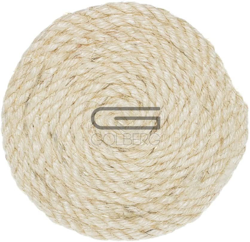 3//8 5//16 1//2 3//4 Golberg Twisted Sisal Rope Available in 1//4 and 1-inch Diameters in Various Lengths GOLBERG G