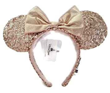 Disney Parks Pink Bow Sequins Mickey Cute Party Minnie Mouse Ears Cos Headband