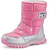 SAGUARO® Bambini Ragazza Stivali Da Neve Inverno Stivaletti Pelliccia Boots Impermeabile Stivali