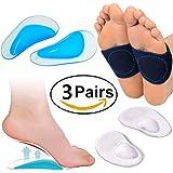 Arco apoyo Set Bandas para fascitis plantar, Zapato Plantillas Cojines, antepié Pads para Pies Planos, fascitis Plantar, alivia el dolor de pies para mujeres y hombres