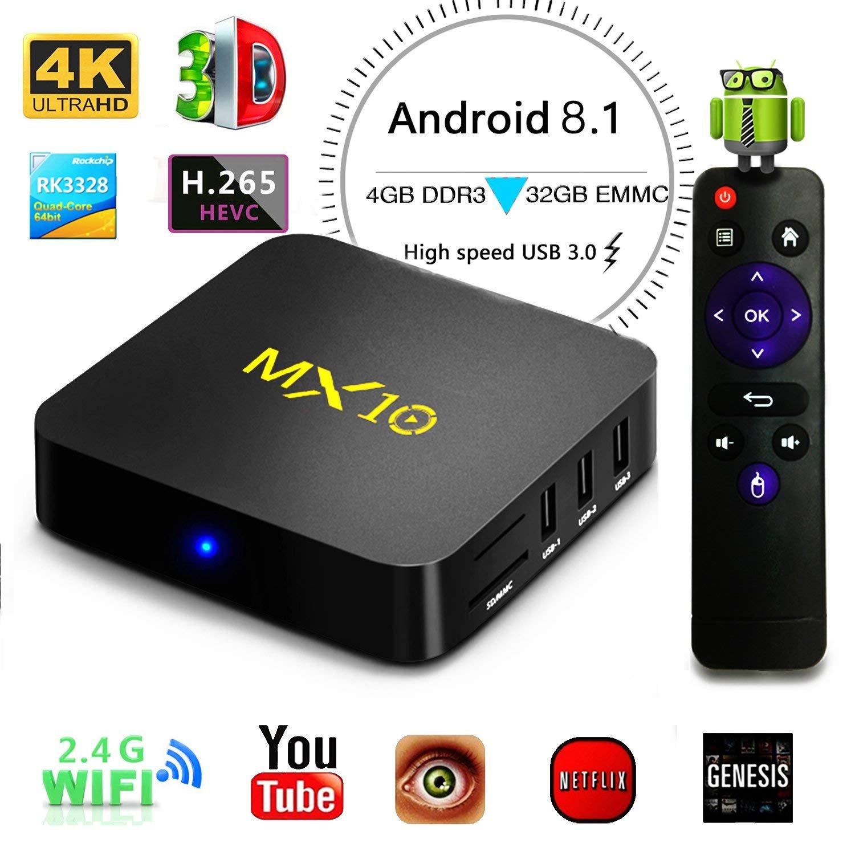 KKmoon Z69 Miracast Media Player Smart Android 7.1 TV Box Amlogic S905X Quad-core UHD 4K 3GB / 32GB Mini PC LAN & WiFi H.265 US Plug