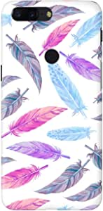 Stylizedd OnePlus 5T Slim Snap Basic Case Cover Matte Finish - Feather Colors
