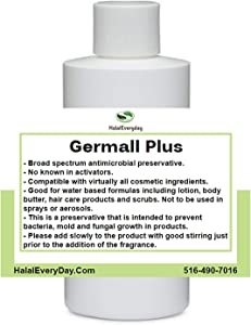 Germall Plus- Natural Preservative - Clear Liquid - Excellent Broad Spectrum Preservative - 4oz - Compatible with Most Cosmetic Ingredients Good for Water Based Formulas