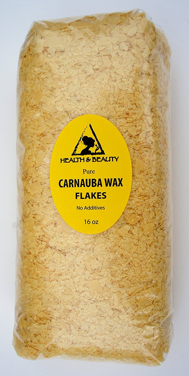 Carnauba Wax Organic Flakes Brazil Pastilles Beards Premium Prime Grade A 100% Pure 16 oz, 1 LB, 454 g H&B OILS CENTER Co. 4336841597