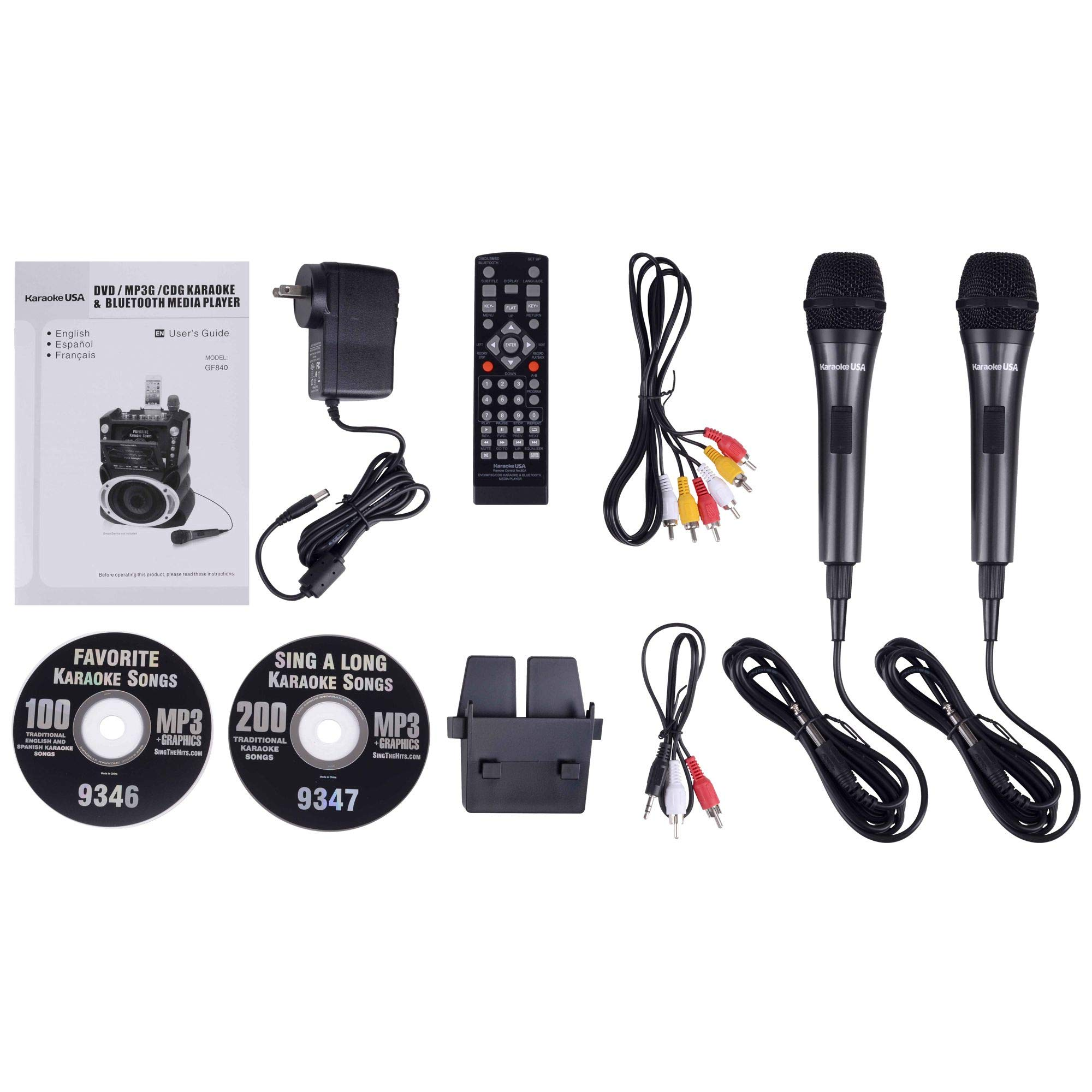 Karaoke USA GF846 DVD/CDG/MP3G Karaoke Machine with 7'' TFT Color Screen, Record, Bluetooth and LED Sync Lights by Karaoke USA (Image #13)