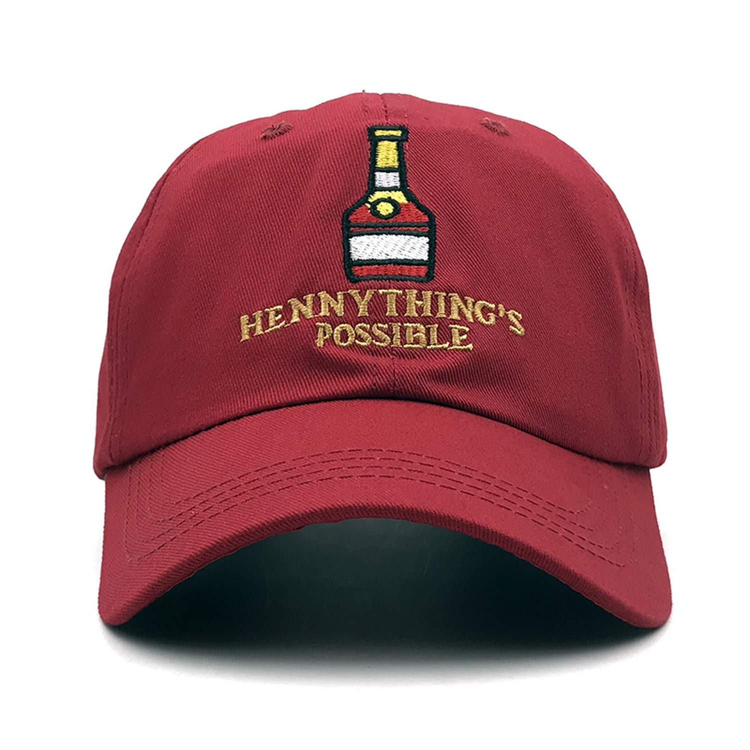 258540d3e6fbe TokLask 2019 New Henny Wine Bottle Embroidery Dad Hat Men Women Baseball  Cap Adjustable Hip-hop Cap Hats Bone Garros at Amazon Women s Clothing  store