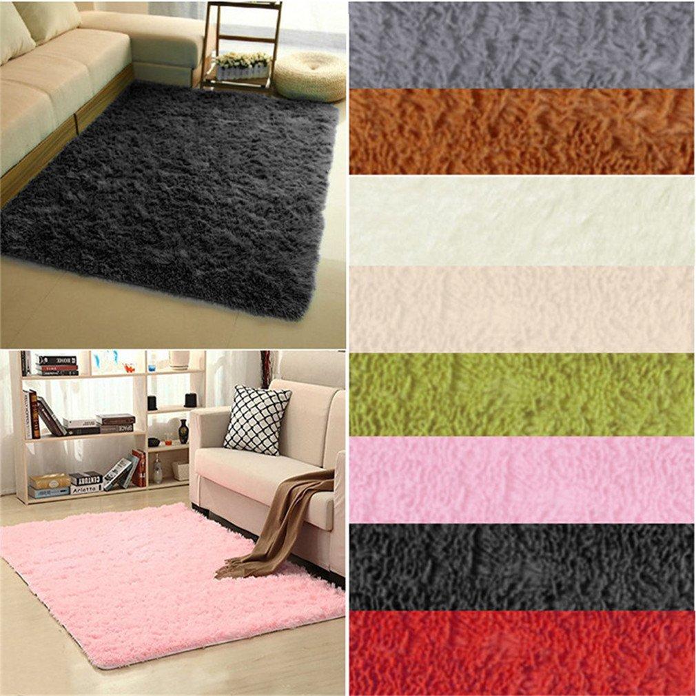 Super Soft Long Plush Silky Mat Carpet Mat Door Rugs Area Rug For Bedroom Living Room Bathroom 4 40x60cm by CHOUHOC (Image #4)
