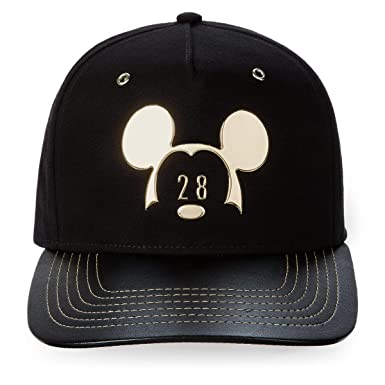 Image Unavailable. Image not available for. Color  Disney Parks 1928  Metallic Mickey Mouse Baseball Hat Cap Adult Black Gold 19c7f58012b